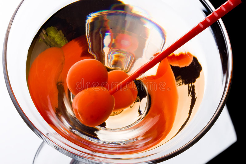 Martini dans une glace photographie stock