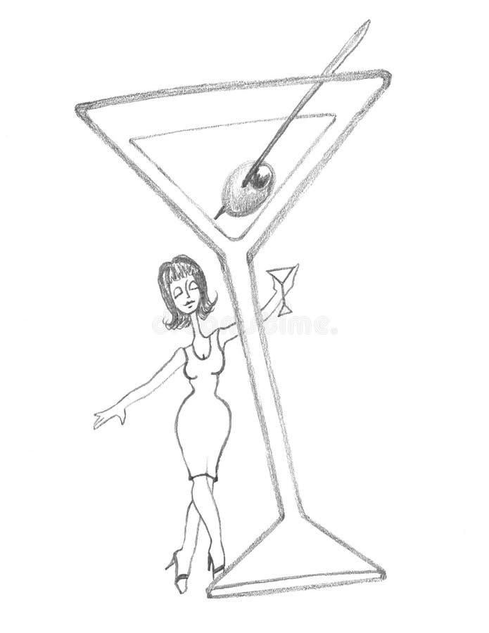 Free Martini Diva Behind A Classic Martini Stock Photo - 10797490