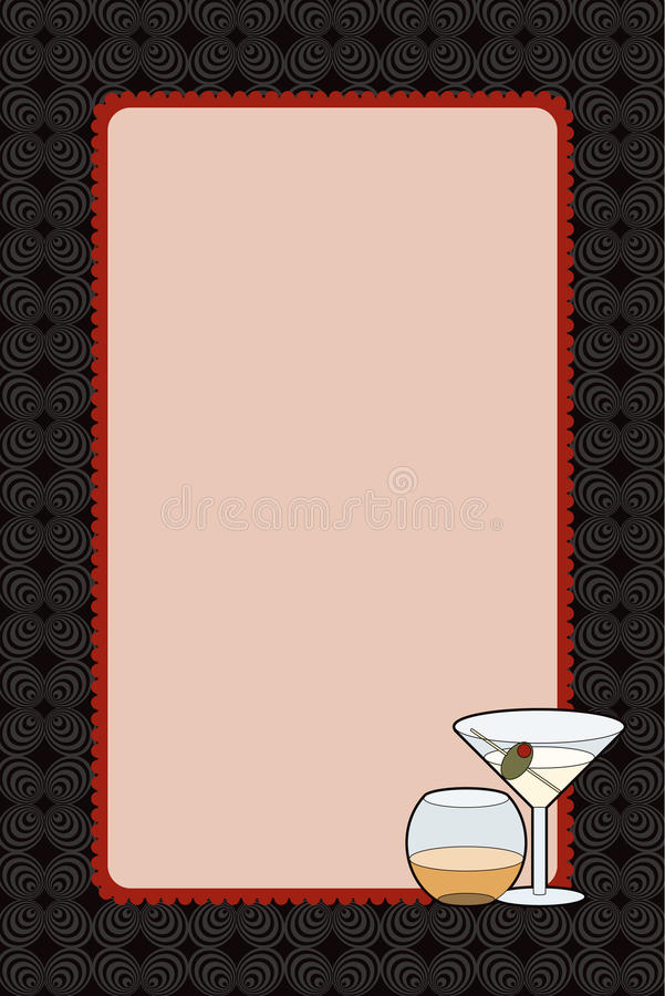 Download Martini Drinks Night Invitation Stock Illustration - Image: 20877245