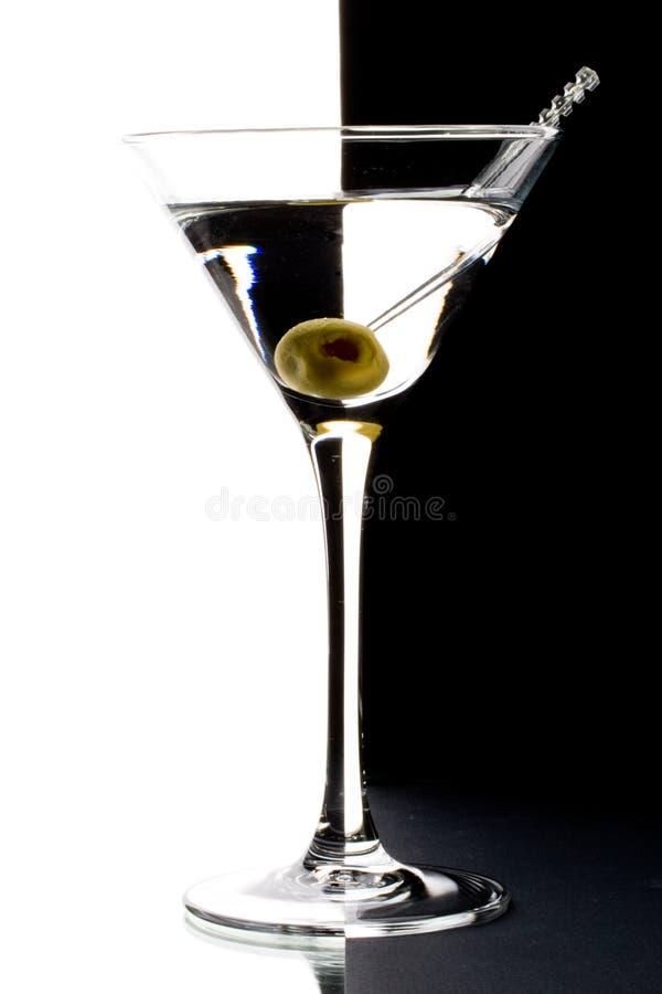 Martini em um vidro fotos de stock royalty free