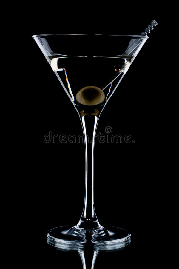Download Martini en verre image stock. Image du vide, noir, wineglass - 8668643