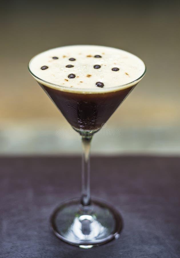 Martini Espresso οινοπνευματώδες ποτό κοκτέιλ στοκ εικόνες