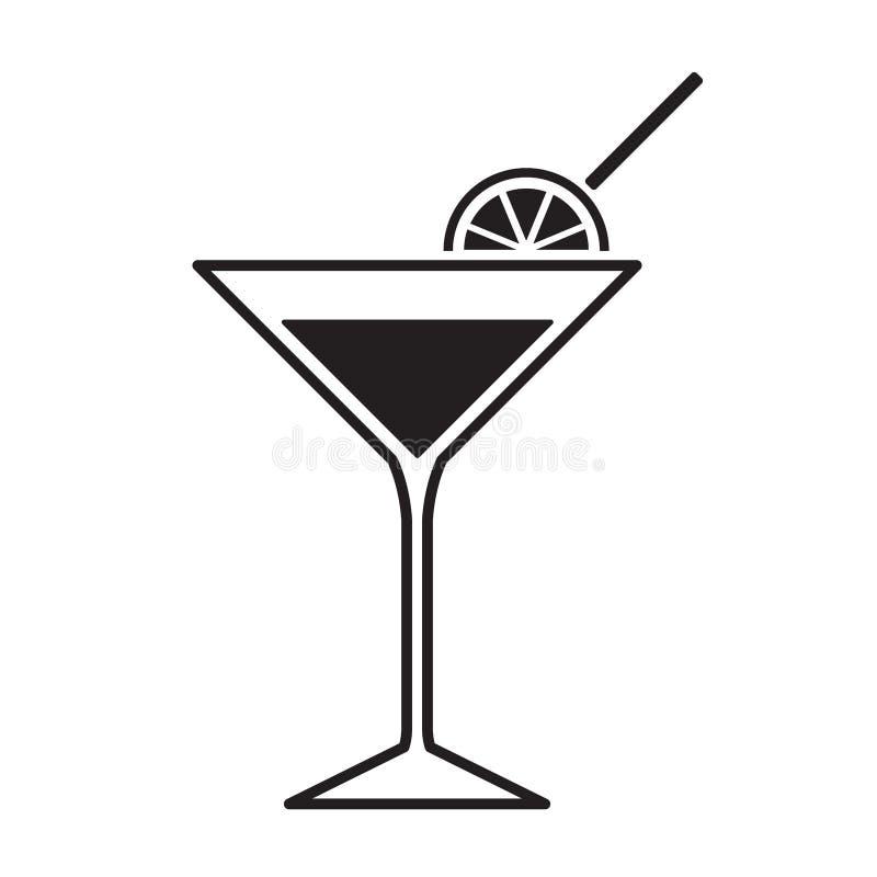 Martini exponeringsglassymbol royaltyfri illustrationer