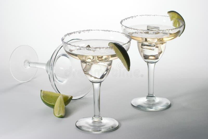 martini för coctailexponeringsglasis set arkivbilder