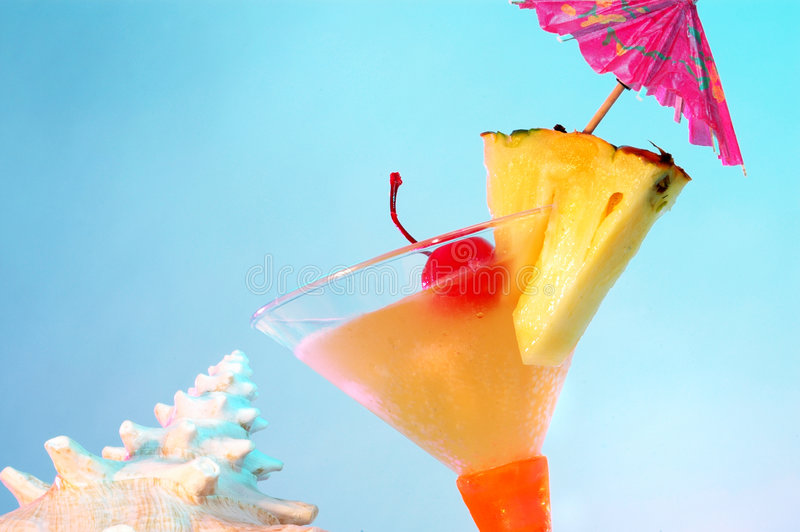 Martini flirtini tropikalny fotografia royalty free