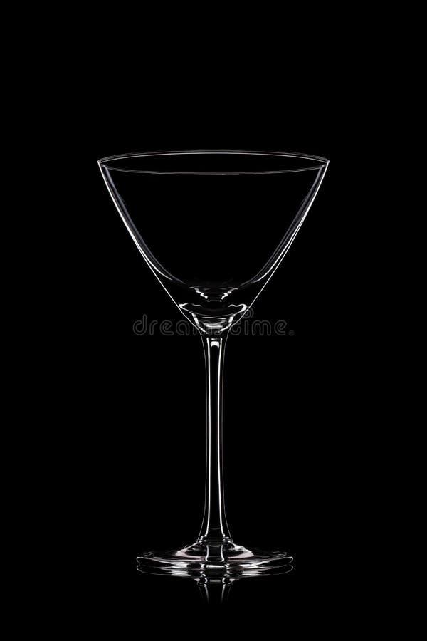 Martini-Glas auf Schwarzem lizenzfreie stockbilder