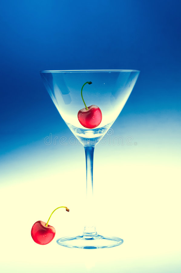 Download Martini glass stock image. Image of perfect, stalks, cherry - 7870271