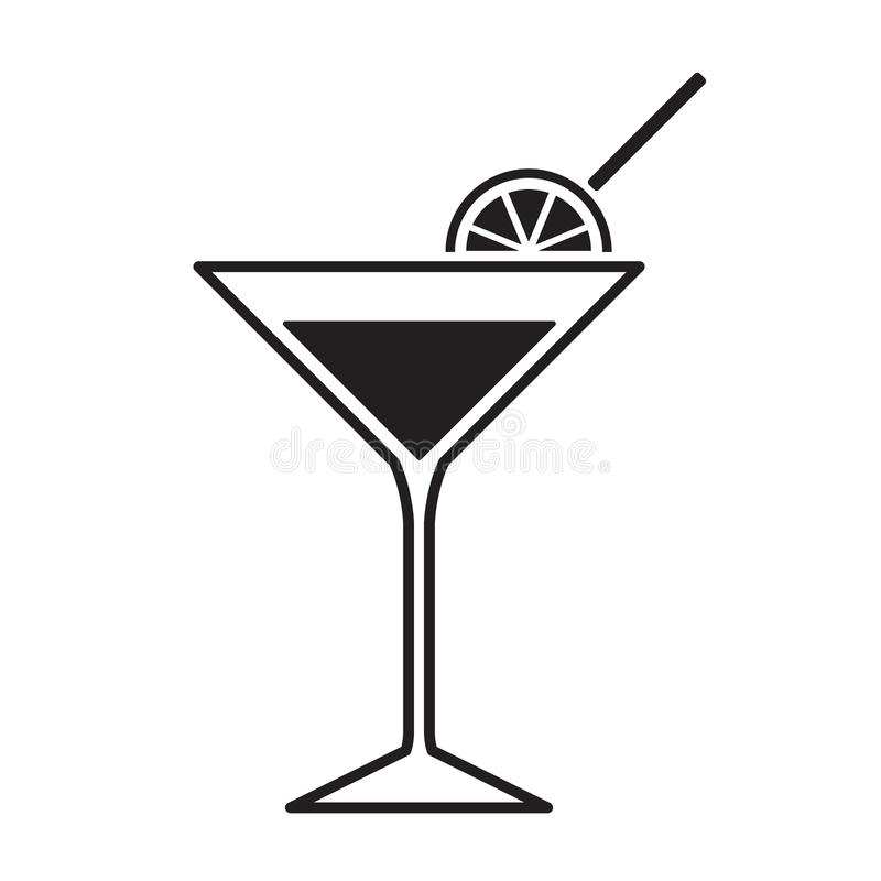 Martini glass icon royalty free illustration