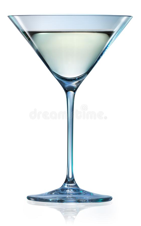 Martini glass isolated on white. With clipping path. Martini glass isolated. Glass on white. With clipping path royalty free stock images