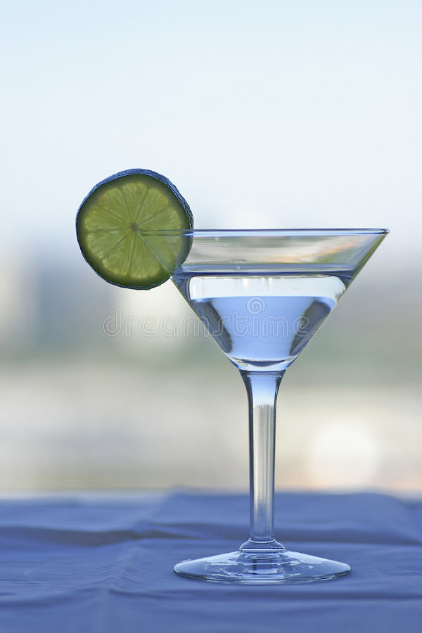 Free Martini Glass With Lime Slice Stock Photo - 1188730