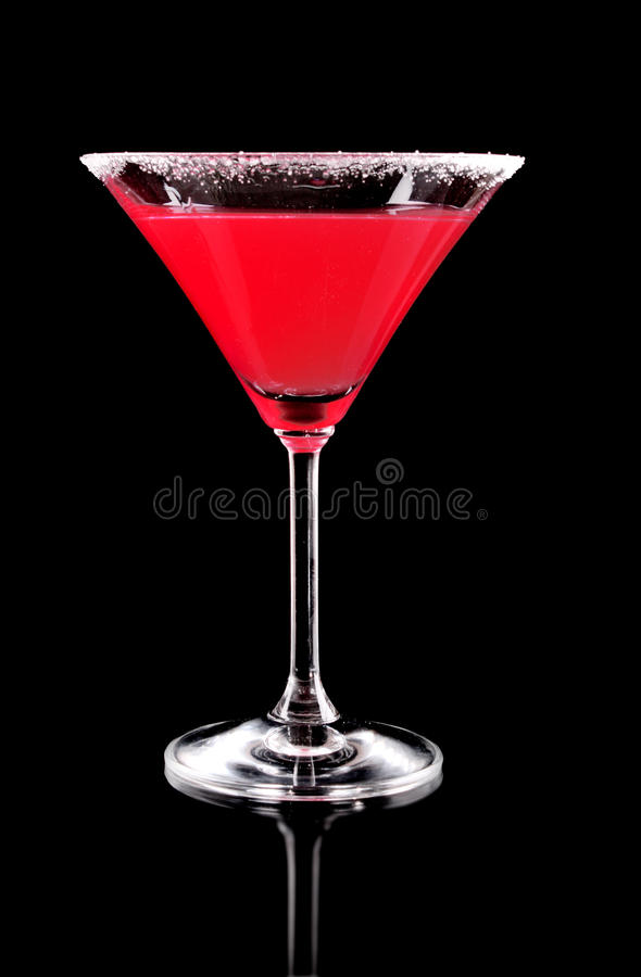 Free Martini Glass With Red Coctail Royalty Free Stock Image - 17784286
