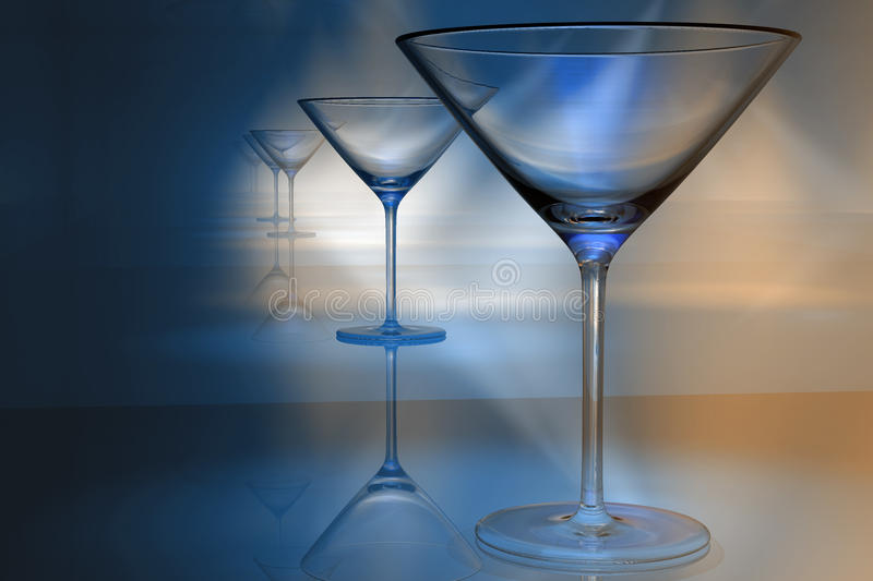 Martini Glasses Royalty Free Stock Images
