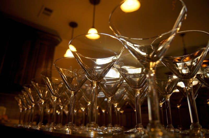 Martini Glasses stock images