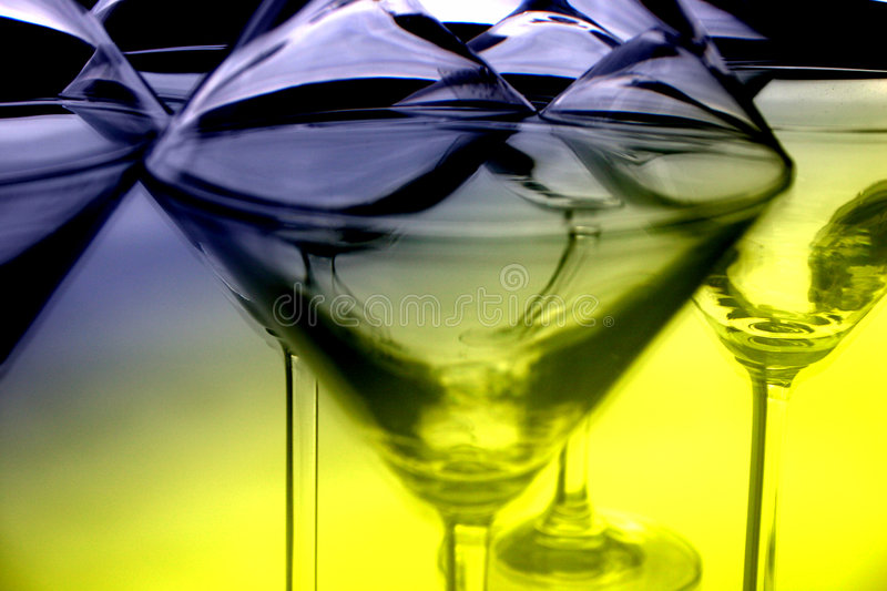 Martini glasses III stock image