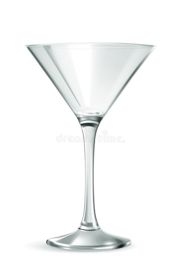 Martini-Glasvektor stock abbildung