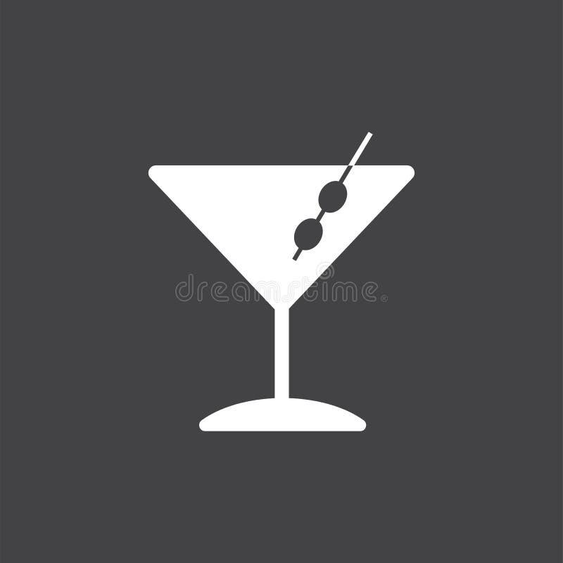 Martini-het pictogramillustratie van het cocktailsglas vector illustratie