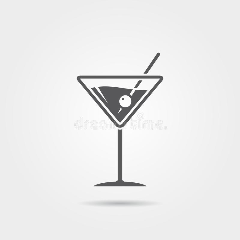 Martini ikona ilustracja wektor
