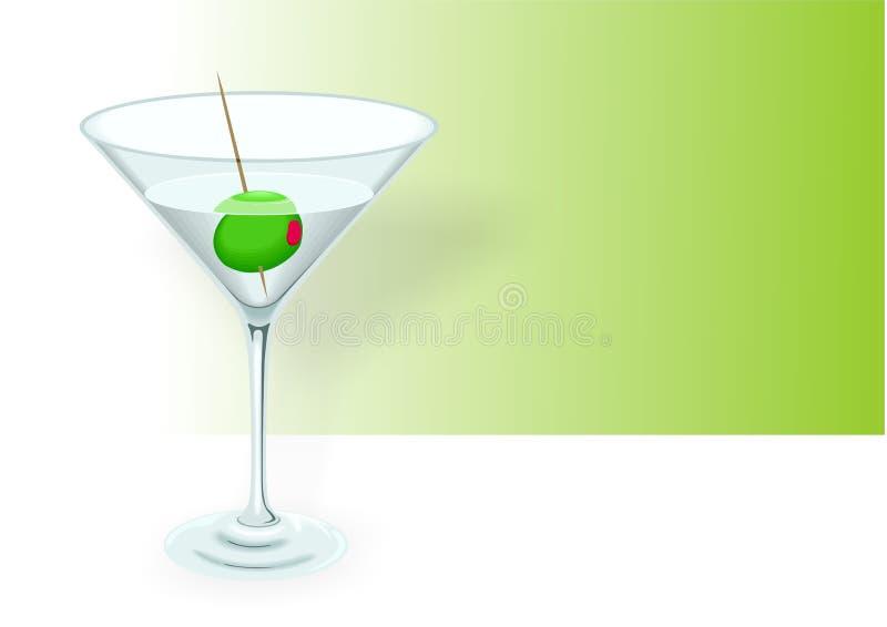 Martini illustration royalty free stock photography