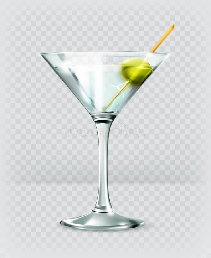 Martini koktajlu wektoru ikona ilustracji