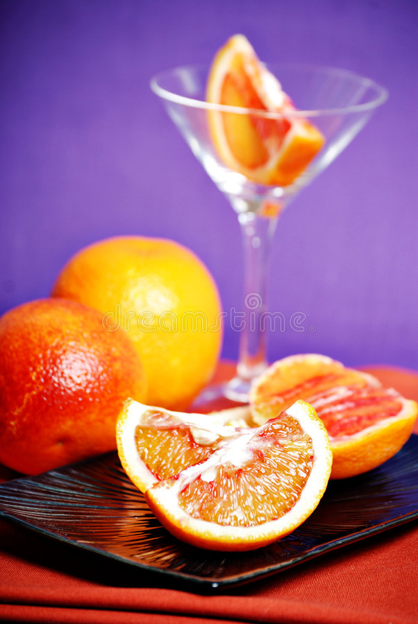 martini krwionośna pomarańcze obraz stock