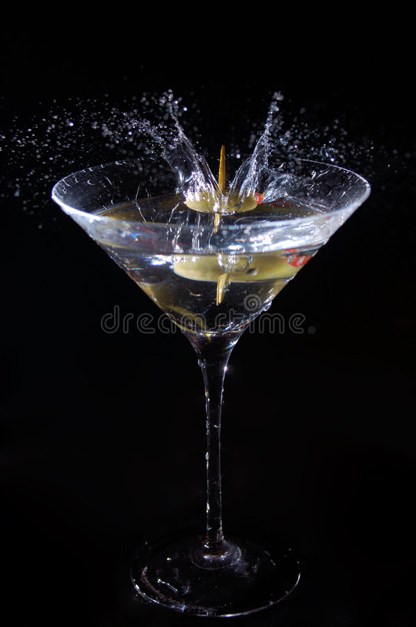 martini ' last splash ' zdjęcia royalty free