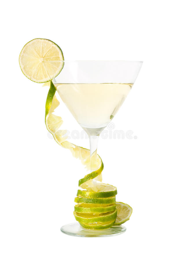 Download Martini and lime. stock photo. Image of drink, white - 12933906