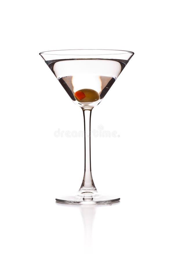 Martini mit Olive stockfoto