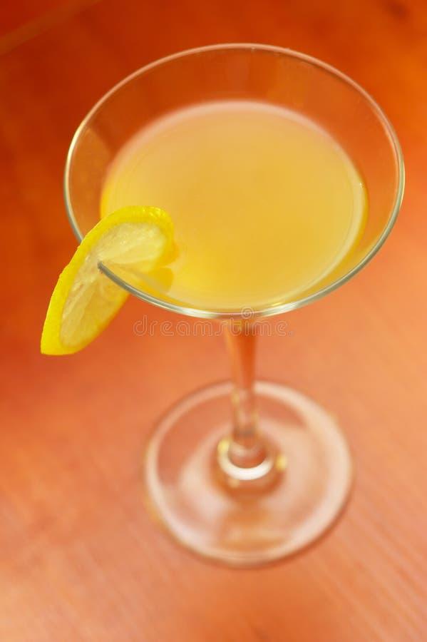 Martini mit Zitrone stockbilder
