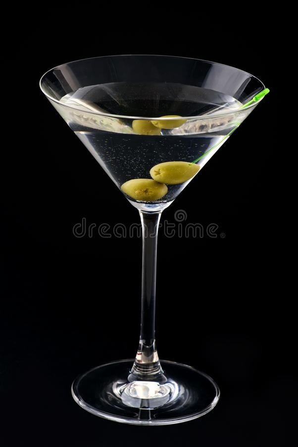Download Martini with Olive stock image. Image of black, isolated - 10526465