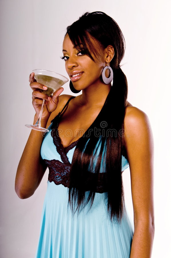 Martini-Party-Mädchen lizenzfreies stockbild