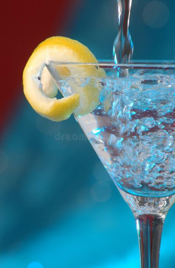 Martini pieno di bolle immagini stock