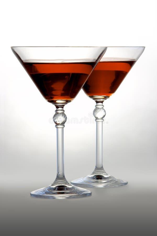 martini red royaltyfri foto