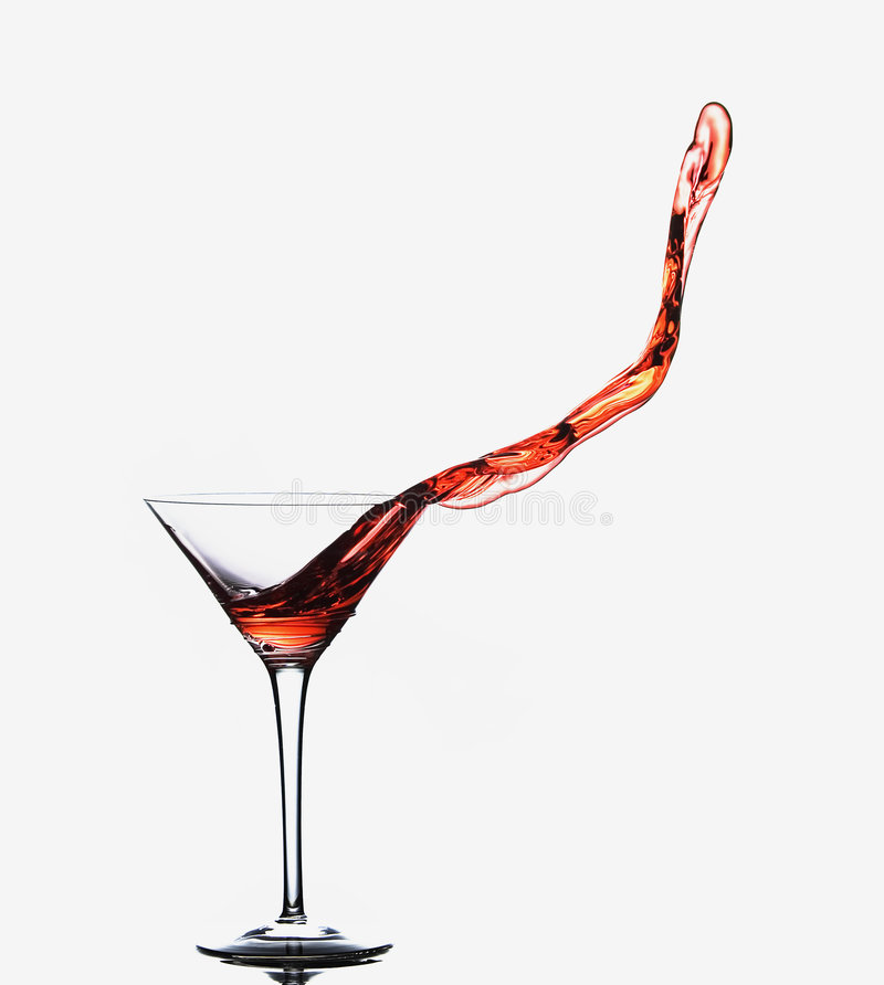 Free Martini Spill Royalty Free Stock Photo - 4866175