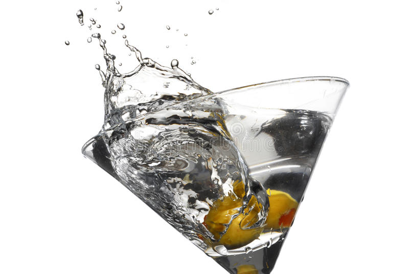 Martini-Spritzen stockfotos