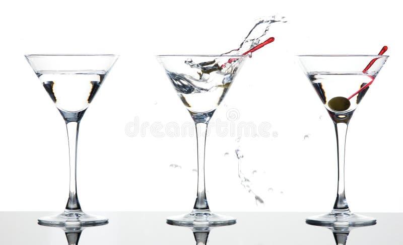 Martini-Spritzen lizenzfreie stockfotografie