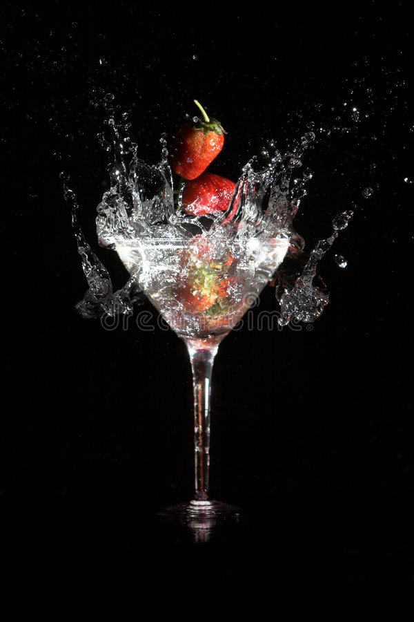 Martini strawberry stock photos