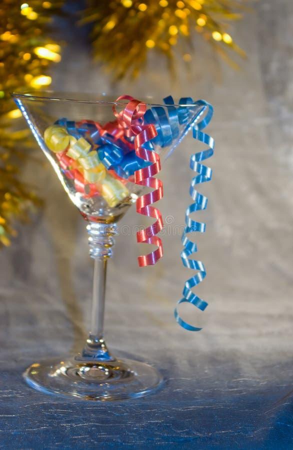 Martini and streamer stock photo
