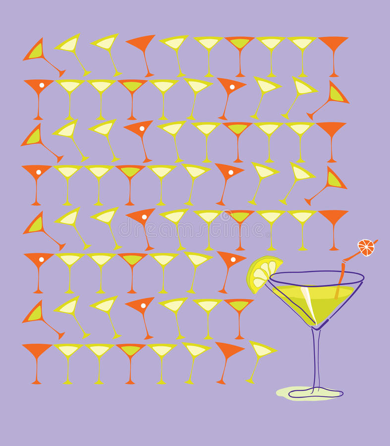 Download Martini with Summer Lemon stock vector. Illustration of backgrounds - 10887700
