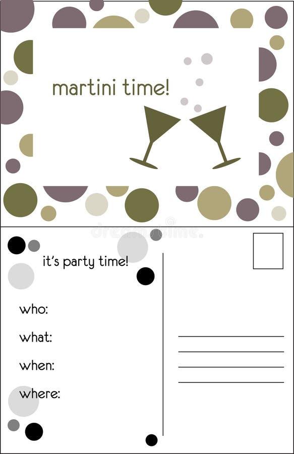 Martini time! stock illustration