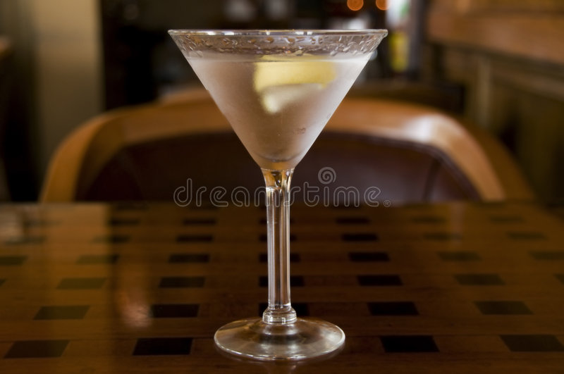 Download Martini With A Twist Of Lemon Stock Photo - Image: 7013542