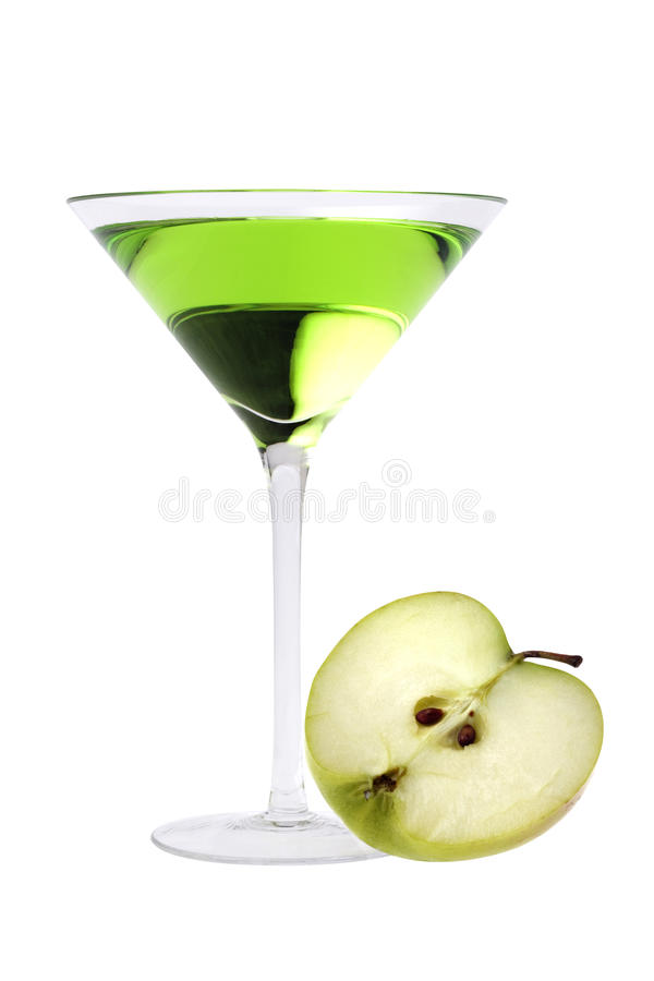 Martini van de appel cocktail stock afbeeldingen