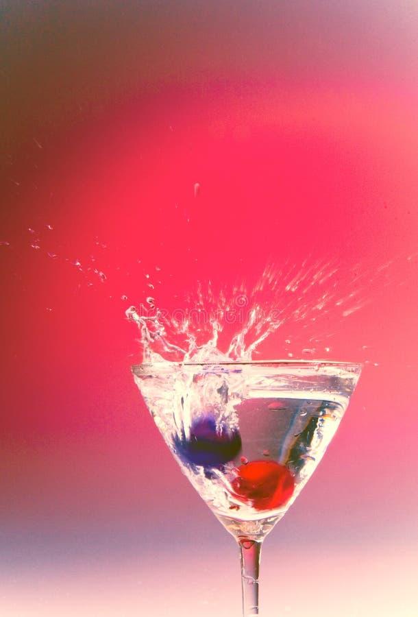Martini van de cocktail glas royalty-vrije stock foto