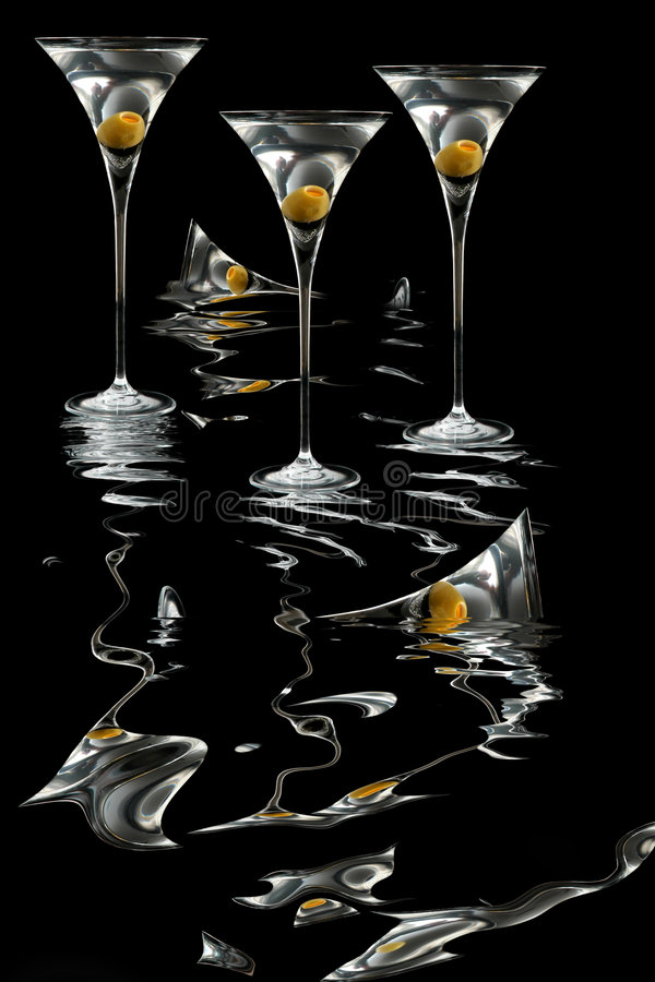 Martini-Verrücktheit lizenzfreies stockbild