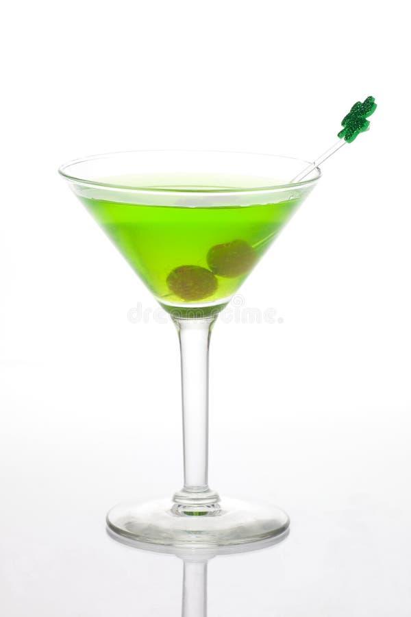 Martini vert pour le jour de rue Patrick images stock