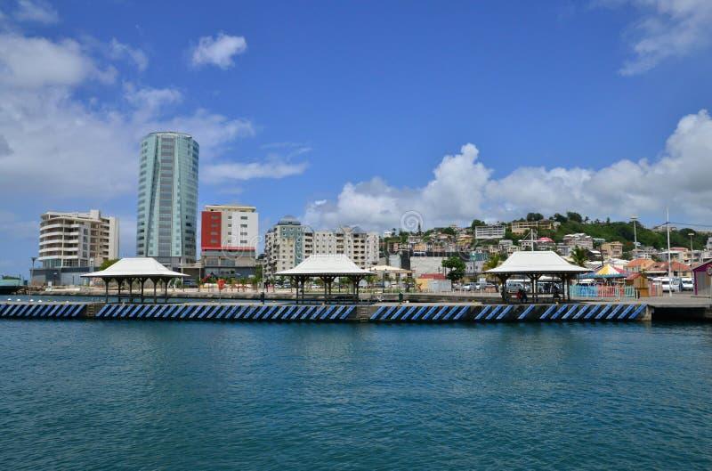 Martinica, ciudad pintoresca del Fort de France fotografía de archivo