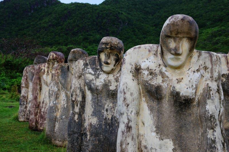 Martinique, Cap 110. Slave memorial near the Le diamant city in West Indies region royalty free stock photo