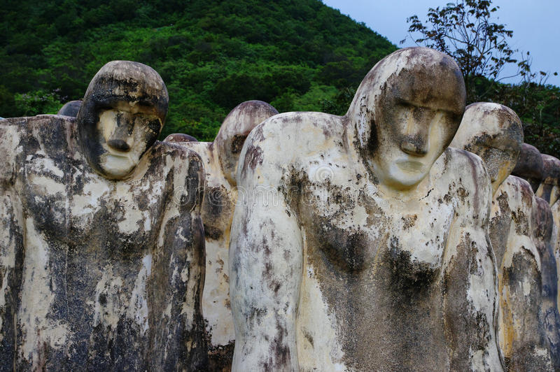 Martinique, Cap 110. Slave memorial near the Le diamant city in West Indies region royalty free stock photography