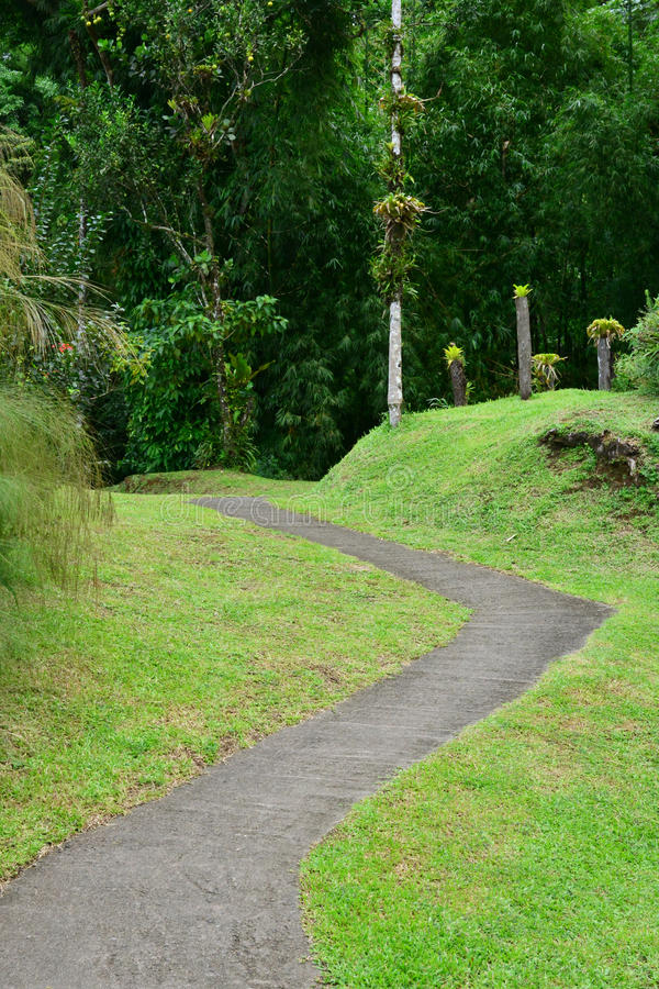 Martinique den Domaine d'Emerauden parkerar royaltyfria foton