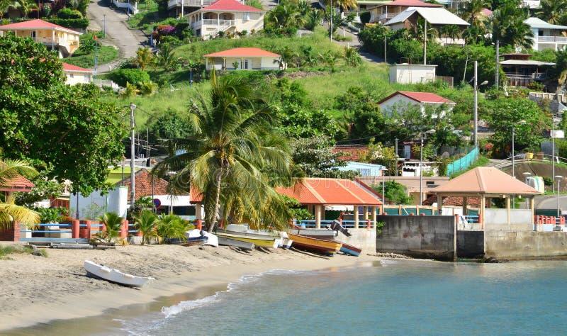Martinique den pittoreska staden av Les Anses D Arlet i västra I royaltyfri fotografi