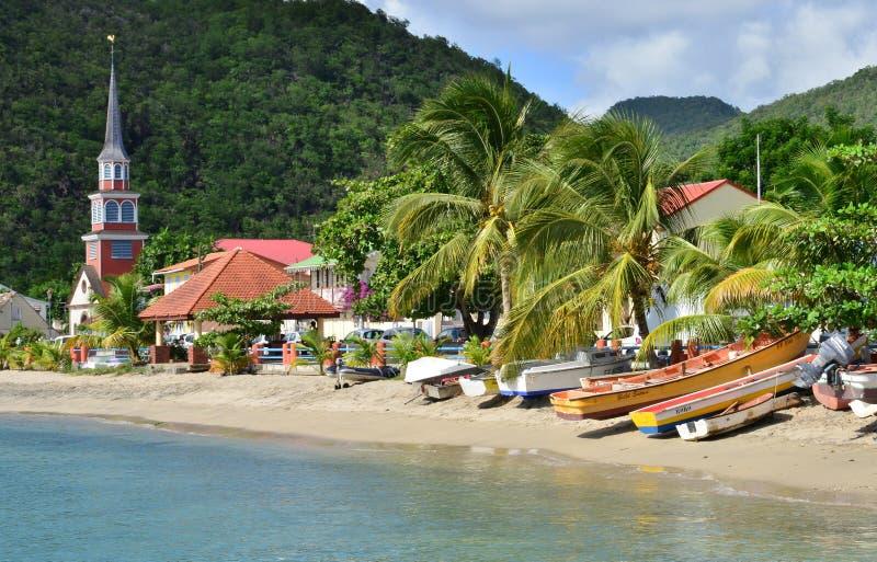 Martinique den pittoreska staden av Les Anses D Arlet i västra I royaltyfri foto